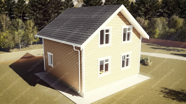 Каркасный дом - проект ТОС-2