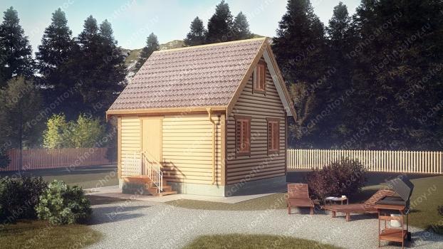 Каркасный дом - проект ТОС-3