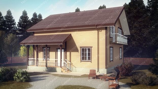 Каркасный дом - проект ТОС-4