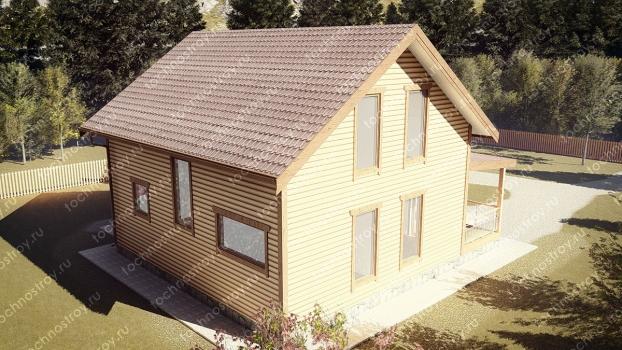 Каркасный дом - проект ТОС-7