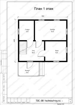 Каркасный дом - проект ТОС-8