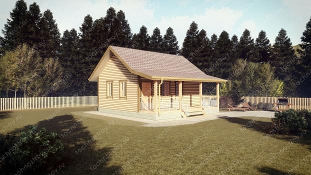 Каркасный дом - проект ТОС-10