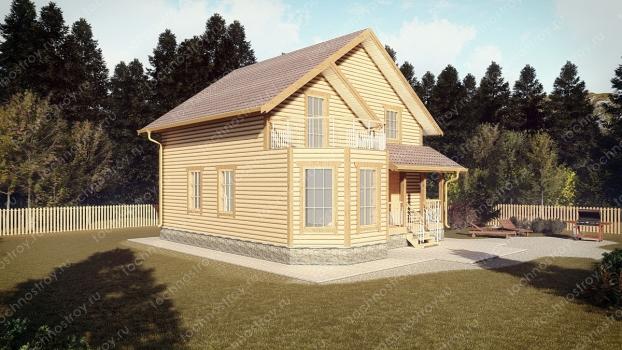 Каркасный дом - проект ТОС-11