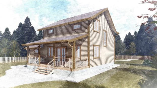 Каркасный дом - проект ТОС-12