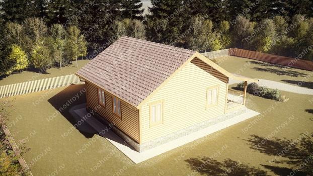 Каркасный дом - проект ТОС-13