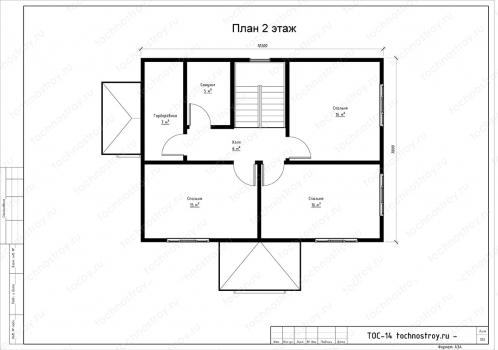 Каркасный дом - проект ТОС-14