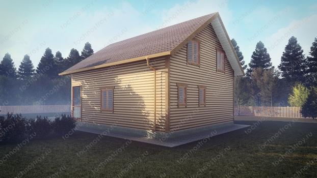 Каркасный дом - проект ТОС-16