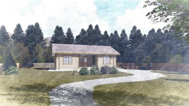Каркасный дом - проект ТОС-26