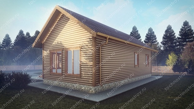 Каркасный дом - проект ТОС-27