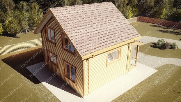 Каркасный дом - проект ТОС-31