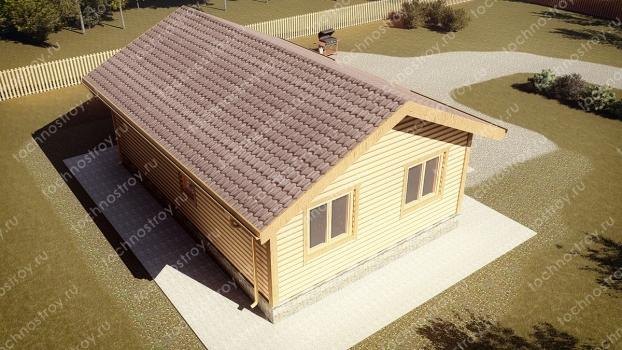 Каркасный дом - проект ТОС-34