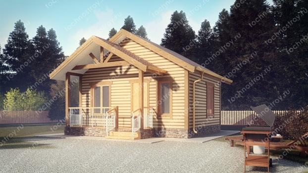 Каркасный дом - проект ТОС-39