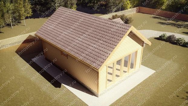 Каркасный дом - проект ТОС-41
