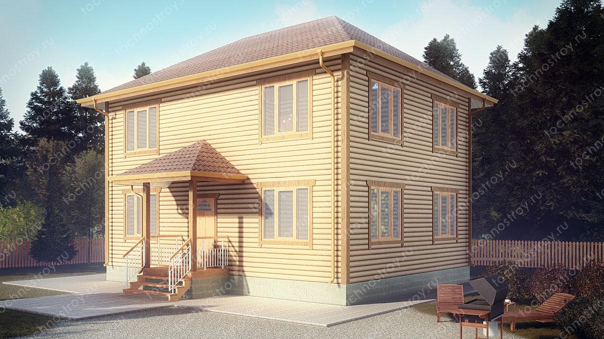 Каркасный дом, построенный самостоятельно