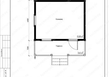 Каркасный дом - проект ТОС-1