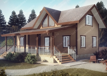 Каркасный дом - проект ТОС-5