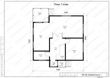 Каркасный дом - проект ТОС-6