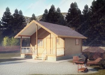 Каркасный дом - проект ТОС-15