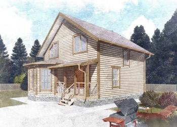Каркасный дом - проект ТОС-17