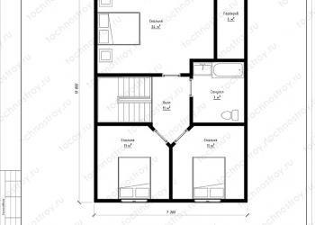 Каркасный дом - проект ТОС-18