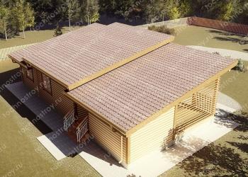 Каркасный дом - проект ТОС-21