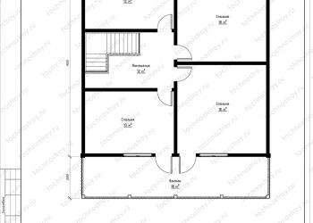 Каркасный дом - проект ТОС-23