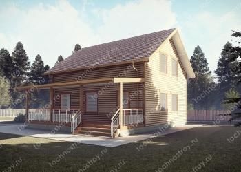Каркасный дом - проект ТОС-25