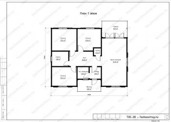 Каркасный дом - проект ТОС-28