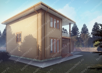 Каркасный дом - проект ТОС-29