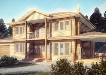 Каркасный дом - проект ТОС-32