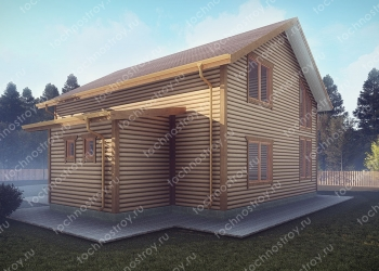 Каркасный дом - проект ТОС-36