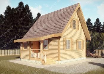 Каркасный дом - проект ТОС-37