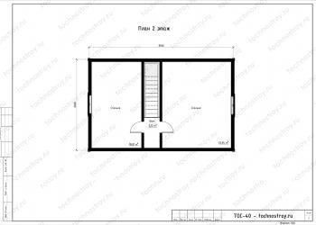 Каркасный дом - проект ТОС-40