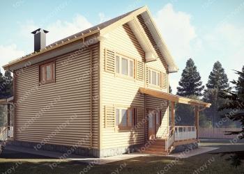 Каркасный дом - проект ТОС-38